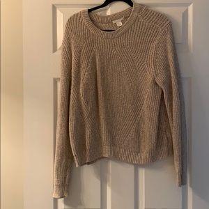 H&M beige/ tan knit sweater